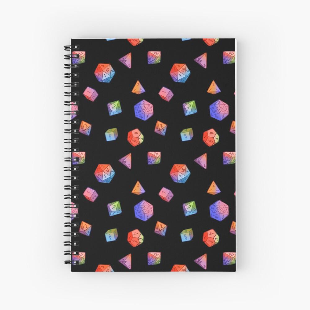 Rainbow Dice Spiral Notebook