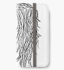 Experimentelle Linienkunst iPhone Flip-Case/Hülle/Skin