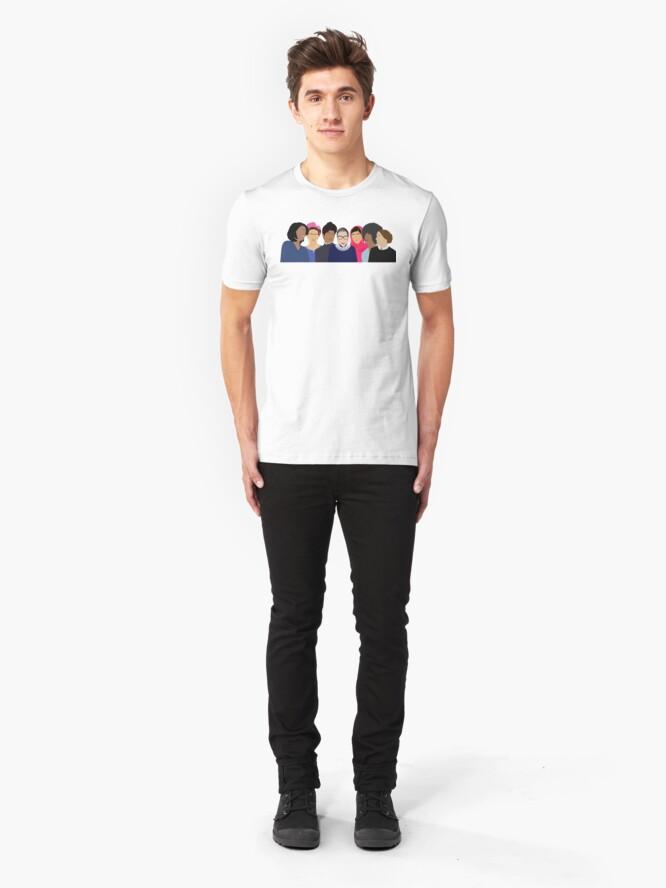 Alternate view of Feminist Girl Gang- Squad Goals Slim Fit T-Shirt