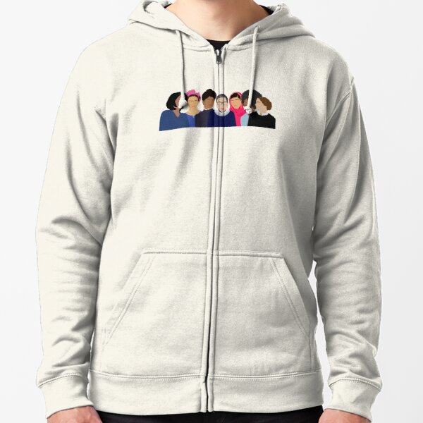 Feminist Girl Gang- Squad Goals Zipped Hoodie