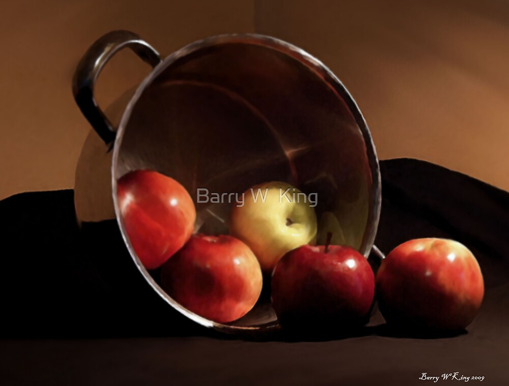 apples five 'detail' by Barry W  King