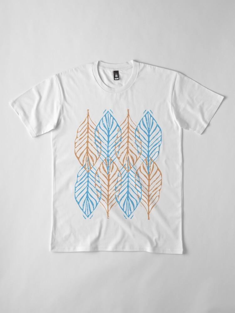 Alternate view of WINTER LEAVES Premium T-Shirt