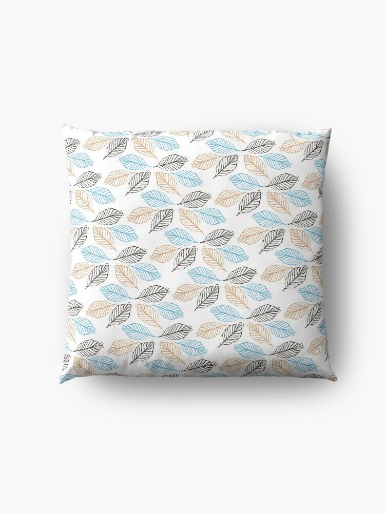 Alternate view of WINTER LEAVES Floor Pillow