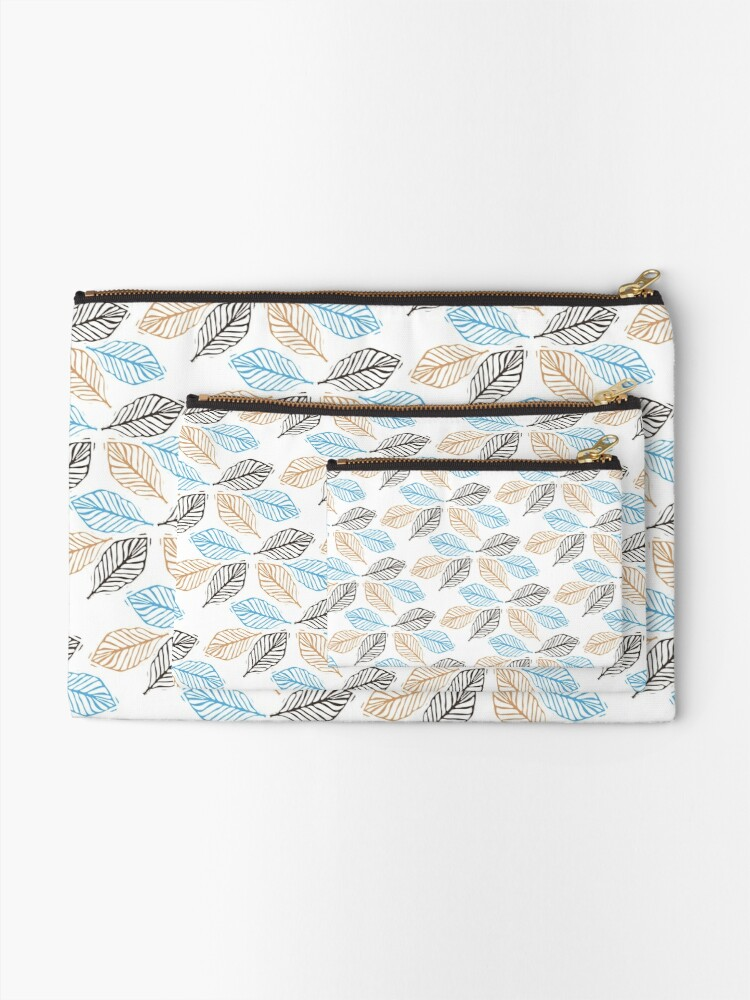 Alternate view of WINTER LEAVES Zipper Pouch