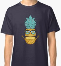 Camiseta clásica Gafas de sol de verano Pineapple