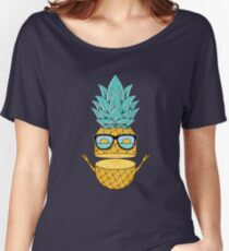 Pineapple Summer Sunglasses Women's Relaxed Fit T-Shirt