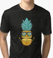 Pineapple Summer Sunglasses Tri-blend T-Shirt
