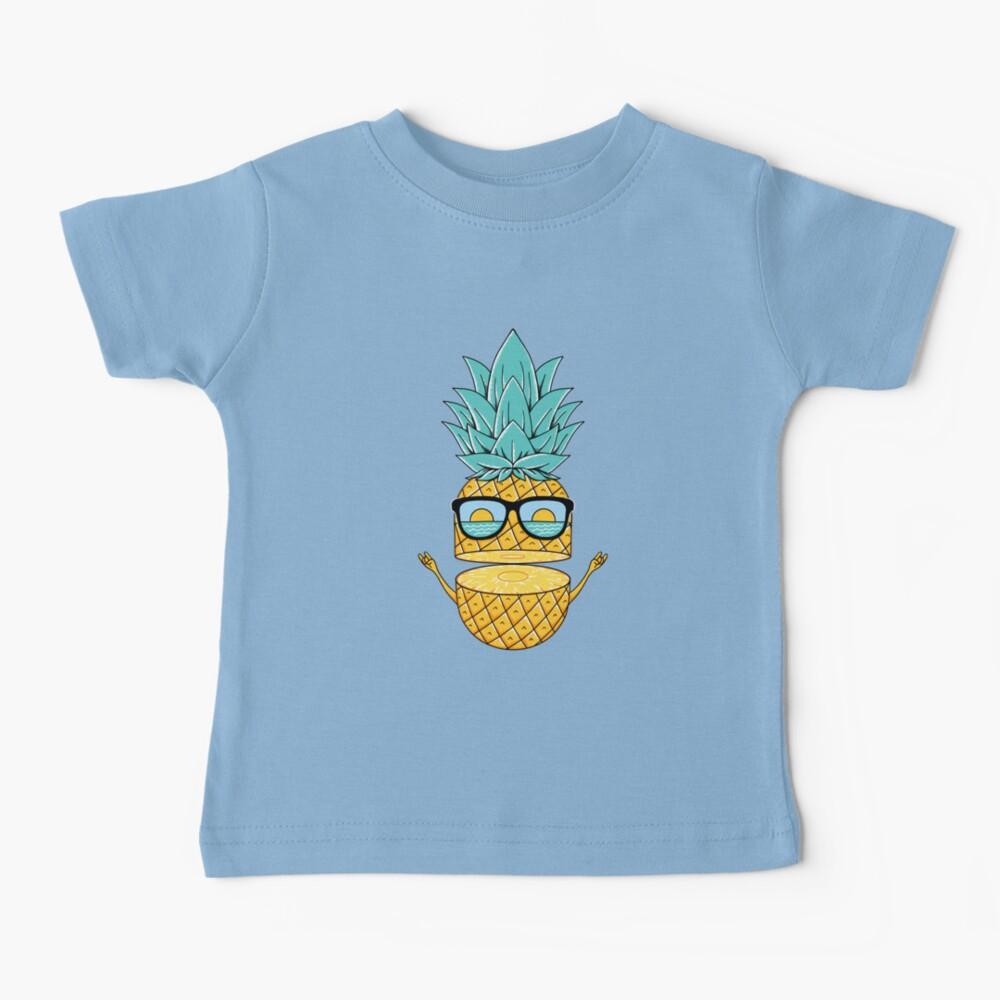 Pineapple Summer Sunglasses Baby T-Shirt