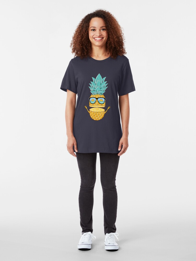 Alternate view of Pineapple Summer Sunglasses Slim Fit T-Shirt