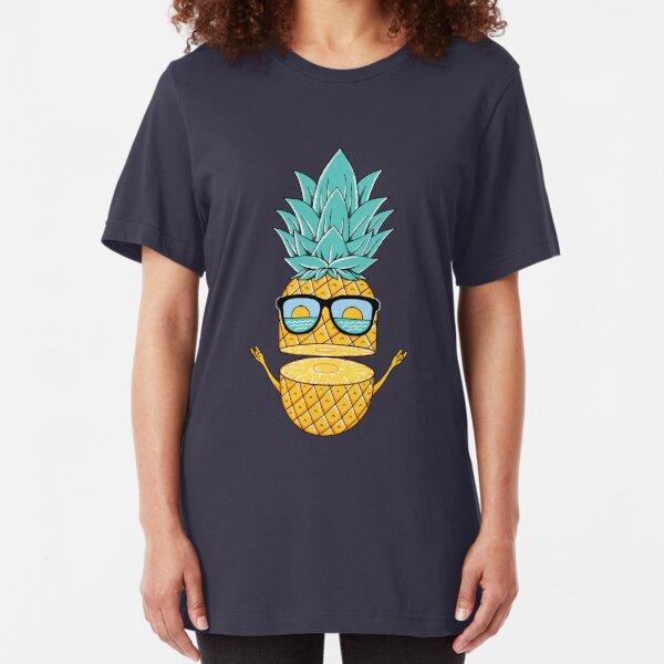 Pineapple Summer Sunglasses Slim Fit T-Shirt
