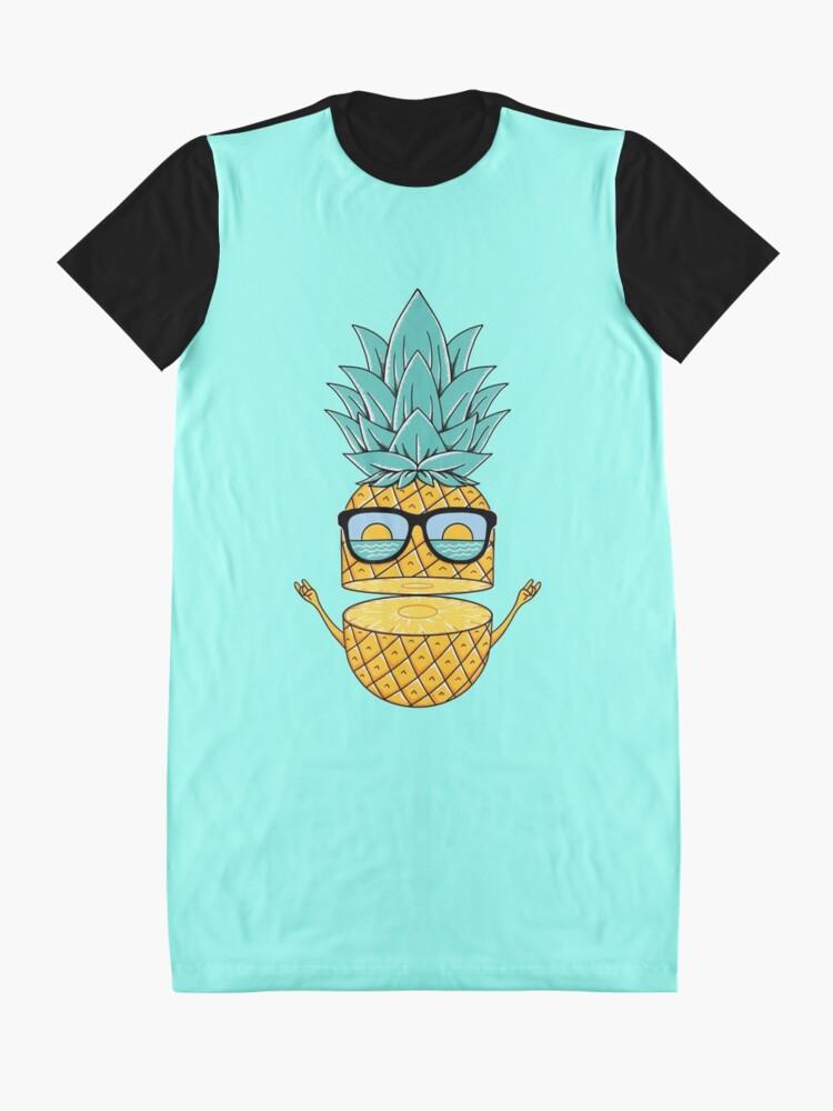 Alternate view of Pineapple Summer Sunglasses Graphic T-Shirt Dress