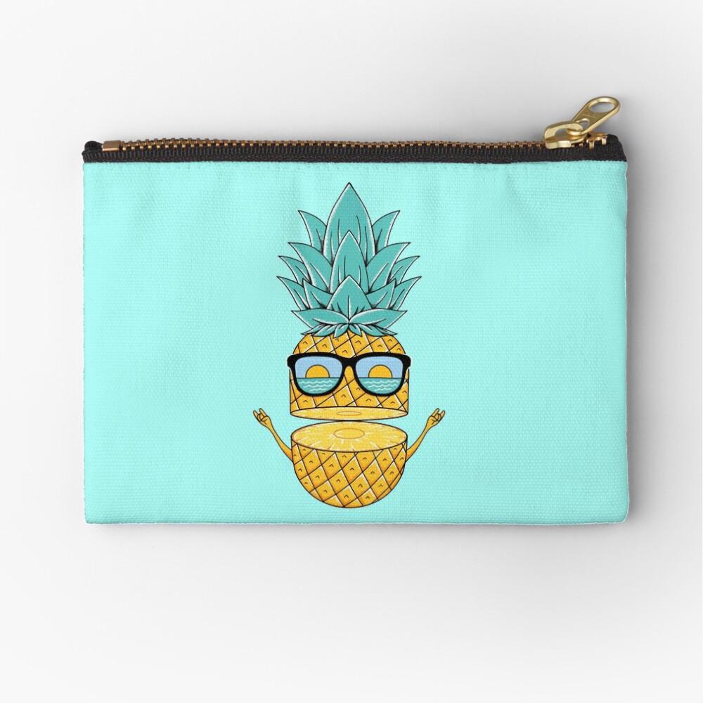 Pineapple Summer Sunglasses Zipper Pouch