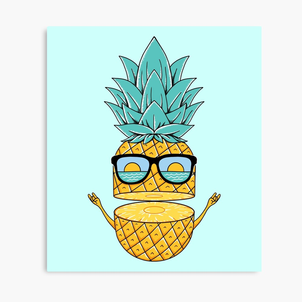 Pineapple Summer Sunglasses Canvas Print