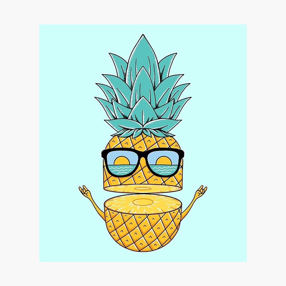Pineapple Summer Sunglasses Photographic Print