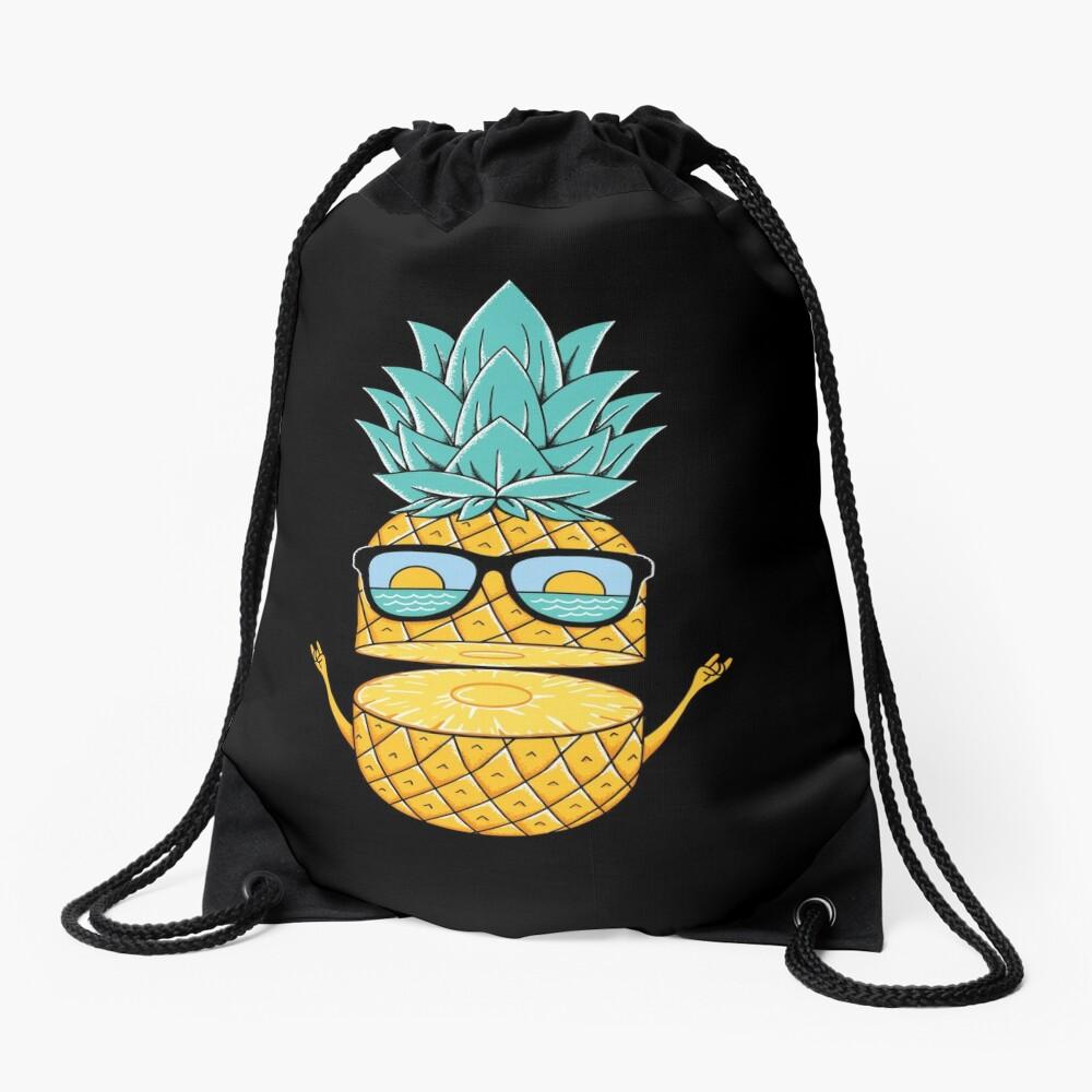 Pineapple Summer Sunglasses Drawstring Bag