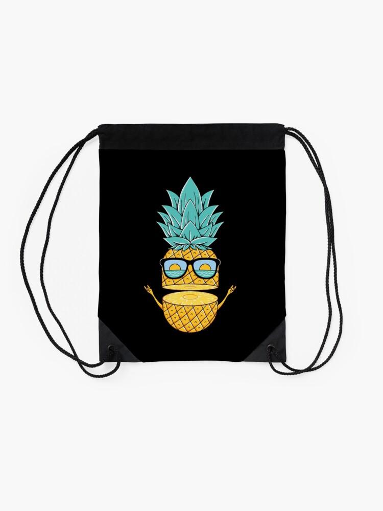 Alternate view of Pineapple Summer Sunglasses Drawstring Bag