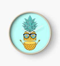 Pineapple Summer Sunglasses Clock