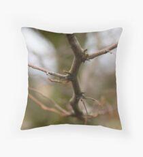 Narrow focus branch. Throw Pillow