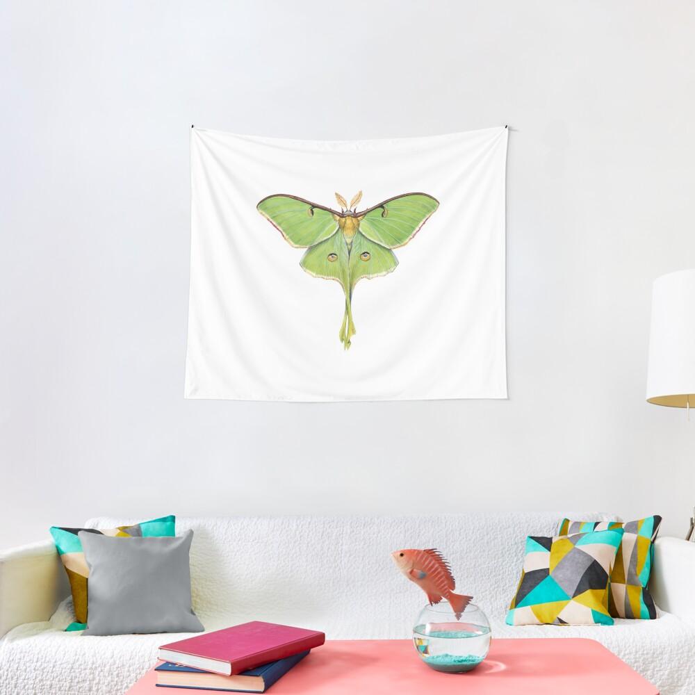 Luna Moth (Actias luna) II Tapestry