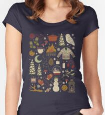Winter Nights Fitted Scoop T-Shirt