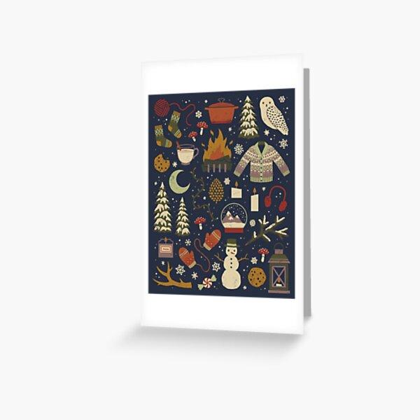 Winter Nights Greeting Card