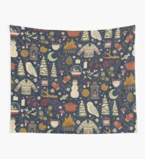 Winter Nights Wall Tapestry