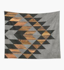Urban Tribal Pattern 10 - Aztec - Concrete and Wood Wall Tapestry