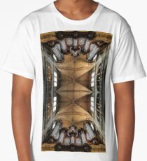 Majestic Auch cathedral pipe organ perspective view, France Long T-Shirt