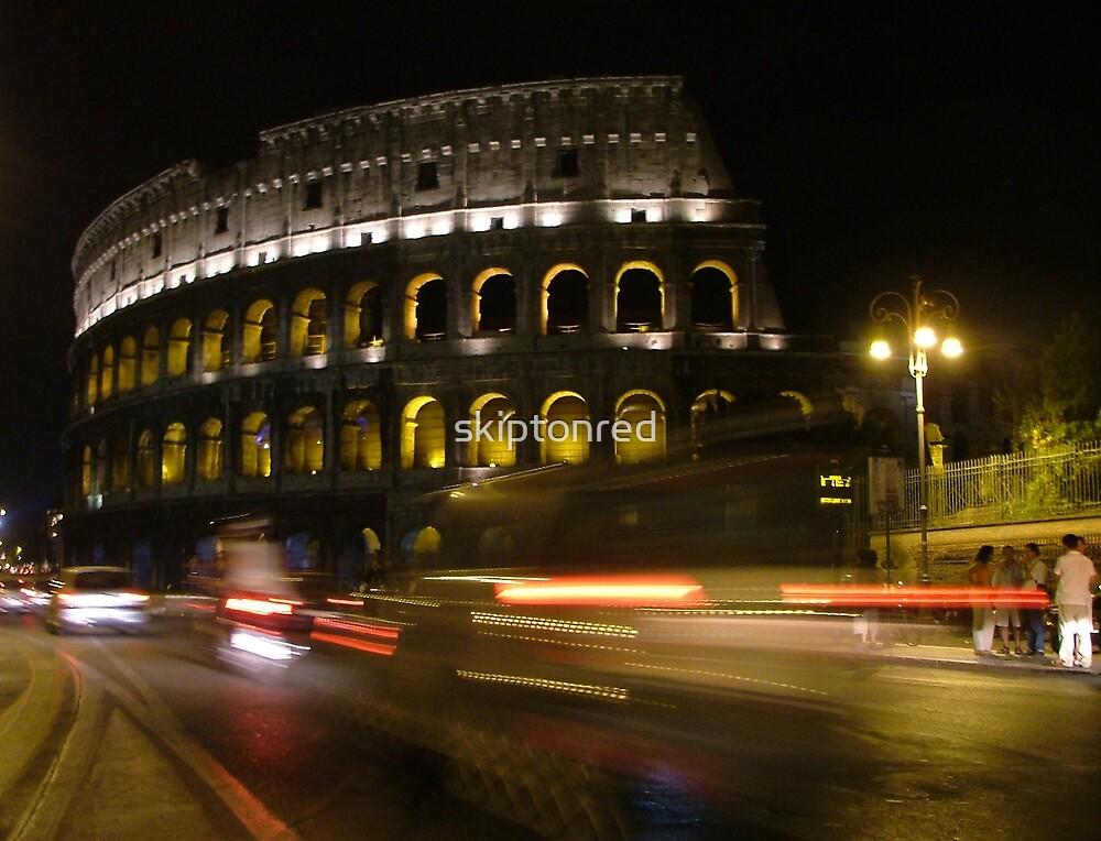 Rome at night by skiptonred