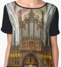 Majestic Auch cathedral pipe organ perspective view, France Chiffon Top