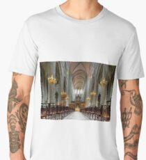 Majestic Auch cathedral pipe organ perspective view, France Men's Premium T-Shirt
