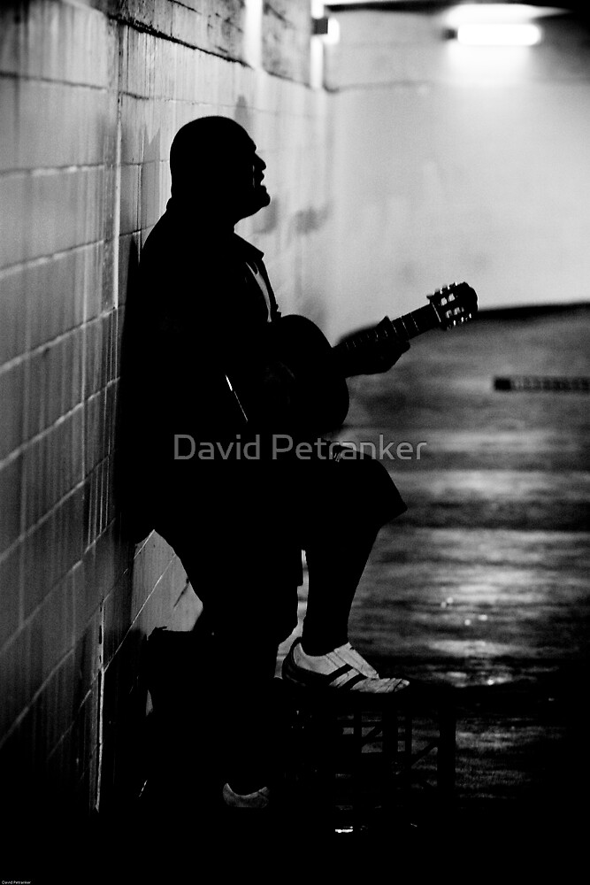 Silhouettes of a man in white shoes (take two series) by David Petranker