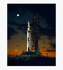 Lámina fotográfica APOLO 4, cohete Saturno V, utilizado para las misiones de aterrizaje lunar tripuladas estadounidenses