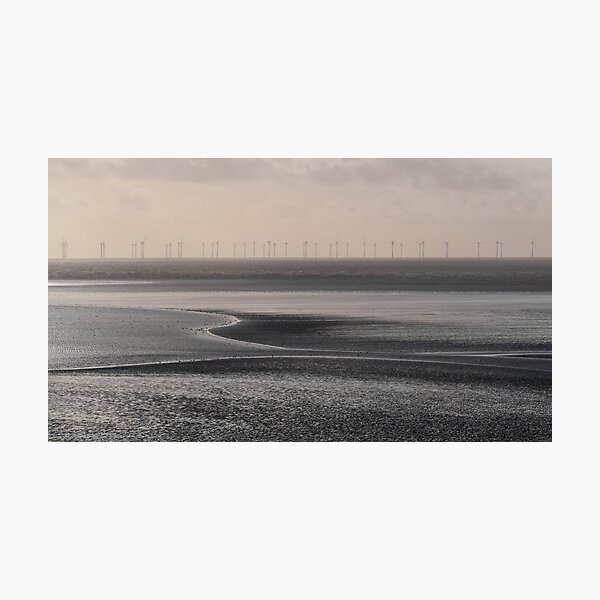 Wind Farm off the Solway Coast Photographic Print