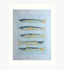 sardine alla griglia © patricia vannucci 2008  Art Print