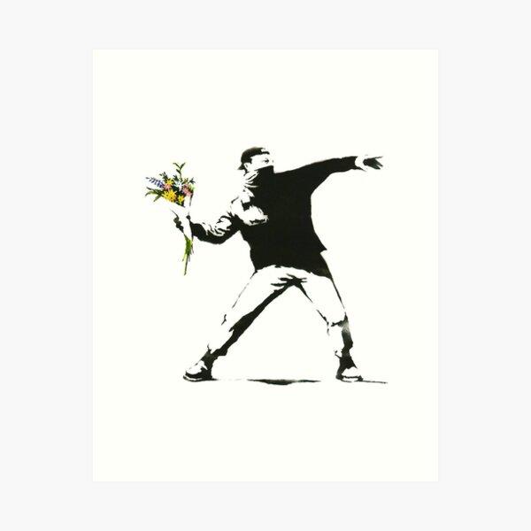 Banksy, Flowers Art Print