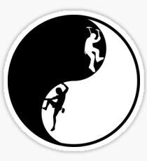 Yin Yang - Rock + Ice Climber Sticker