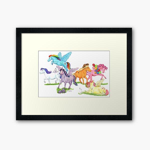 Little Ponies - My Little Pony Framed Art Print