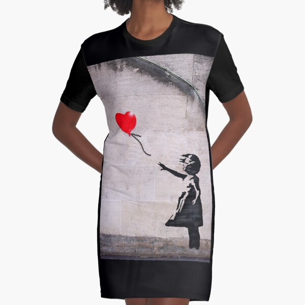 Banksy, Hope Graphic T-Shirt Dress