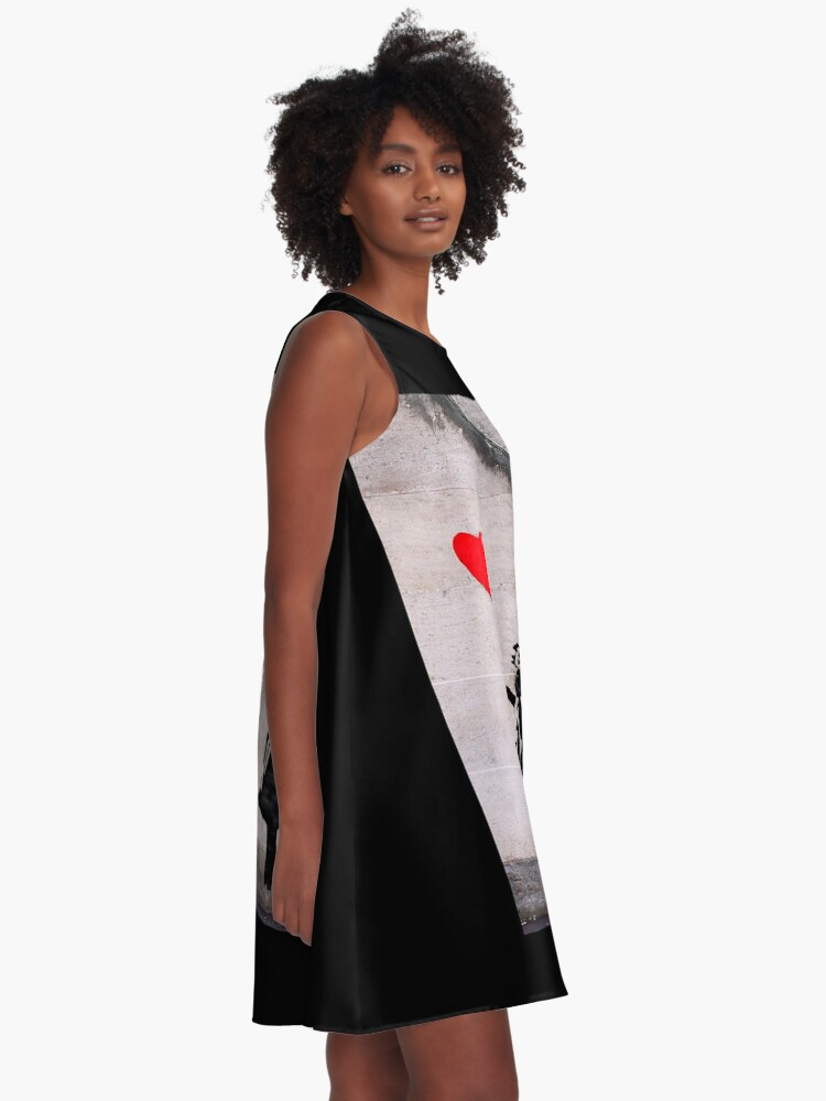 Alternate view of Banksy, Hope A-Line Dress