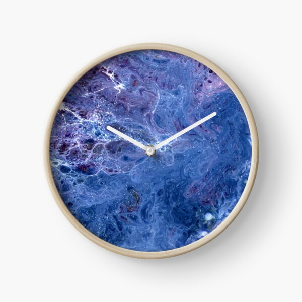 Blue Lace Clock