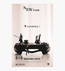 """Final Fantasy VII """"NEW GAME"""" Photographic Print"""