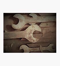 Rusty Wrenches Photographic Print