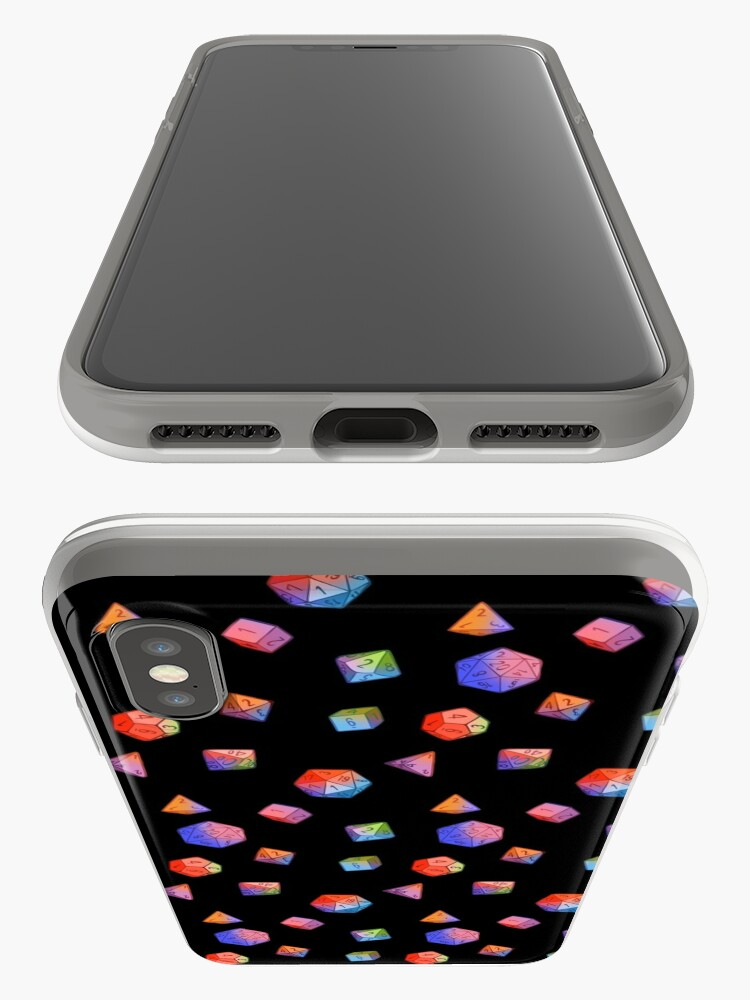Alternate view of Rainbow Dice iPhone Case & Cover