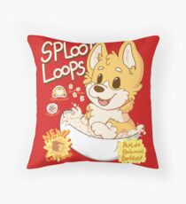 Sploot Loops Throw Pillow