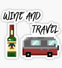 8Bit Wine and Travel  Sticker