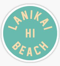 Lanikai Beach - Oahu - Hawaii Sticker
