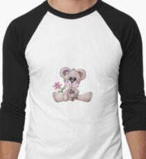 Teddy Bear and New Puppy Men's Baseball ¾ T-Shirt