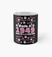Made In 1949 Aged To Purrfection - Birthday Shirt For Cat Lovers Classic Mug