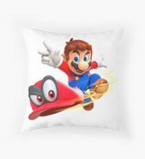 Super Mario Odyssey Throw Pillow